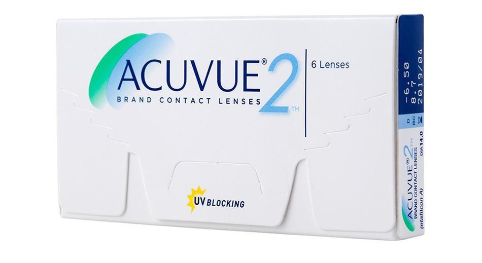 Lentes de Contato Acuvue 2 - Caixa com 6 lentes (3 pares)