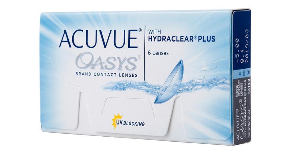 Lentes de Contato Acuvue Oasys - Caixa com 6 lentes (3 pares)