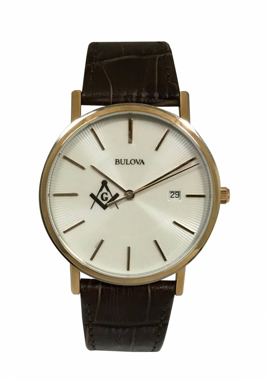 Relógio Bulova Maçonaria Masculino Quartz WB21150B - MAC
