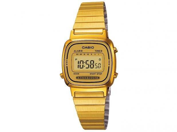 Relógio Casio Feminino Vintage Digital Quartz LA670WGA-9DF