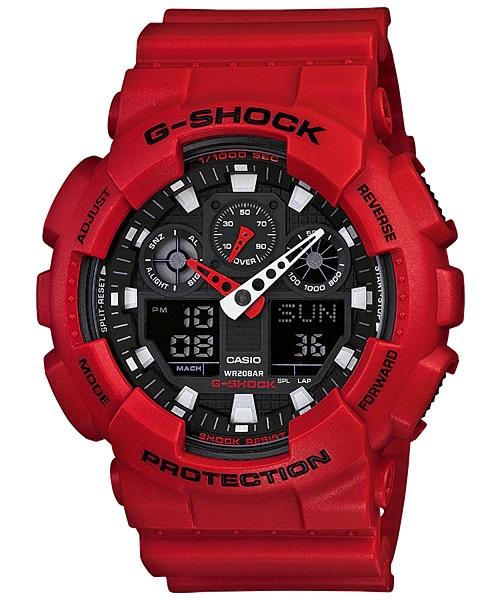 Relógio Casio G-SHOCK ANADIG GA-100B-4ADR