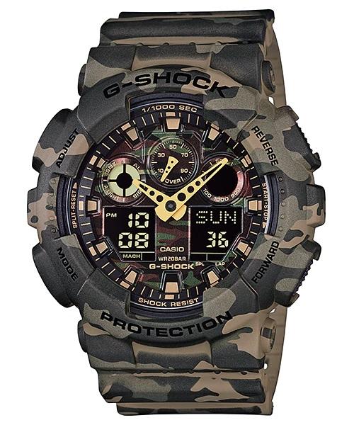 Relógio Casio G-SHOCK ANADIG GA-100CM-5ADR