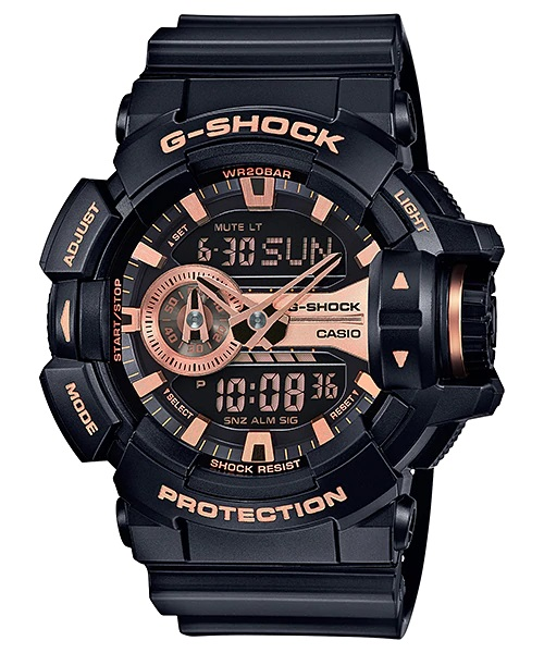 Relógio Casio G-SHOCK ANADIG GA-400GB-1A4DR