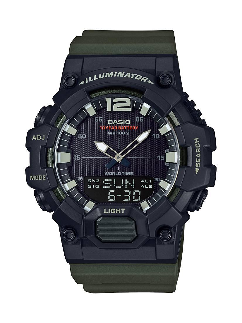 Relógio Casio Masculino Illuminator Anadigi Quartz HDC-700-3AVDF