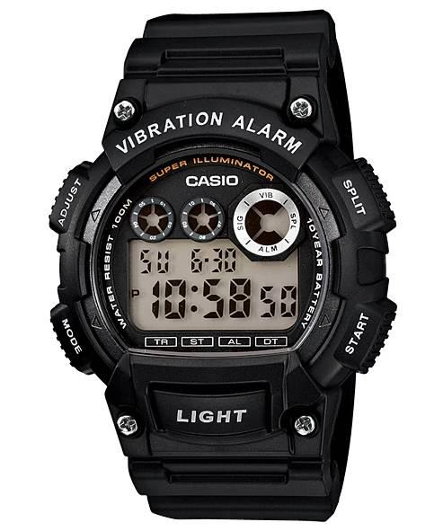 Relógio Casio Masculino Vibration Alarm Quartz W735H-1AVDF