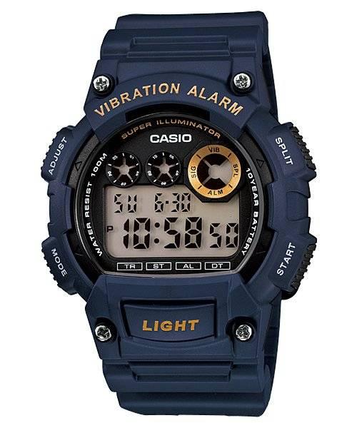 Relógio Casio Masculino Vibration Alarm Quartz W-735H-2AVDF