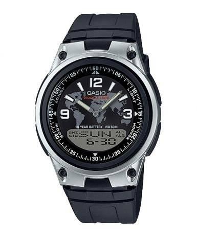 Relógio Casio Masculino World Time Anadigi Quartz AW-80-1A2VDF