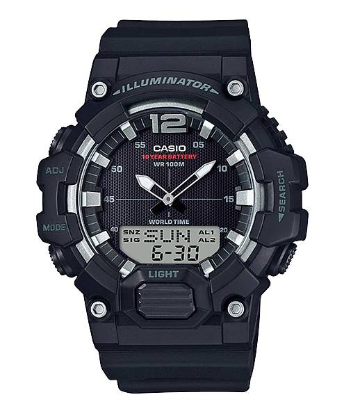 Relógio Casio Masculino World Time Anadigi Quartz HDC-700-1AVDF
