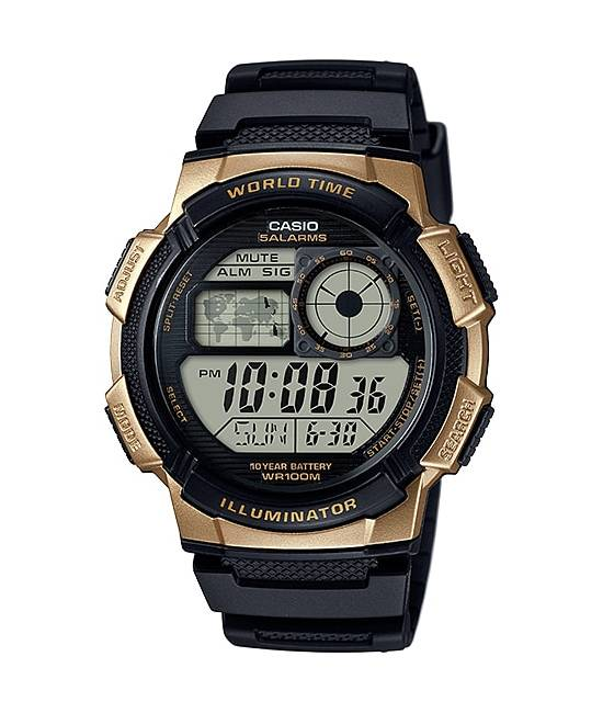 Relógio Casio Masculino World Time Quartz AE-1000W-1A3VDF