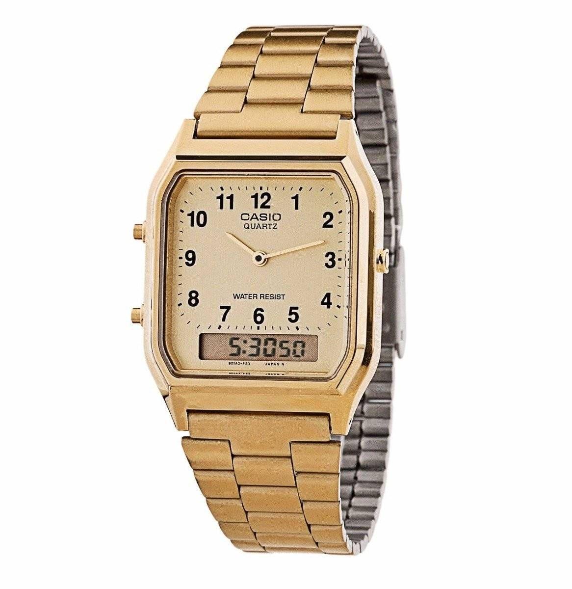 Relógio Casio Unissex Anadigi Quartz AQ-230GA-9BMQ