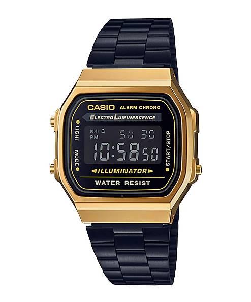 Relógio Casio Unissex Vintage Digital Quartz A168WEGB-1BDF