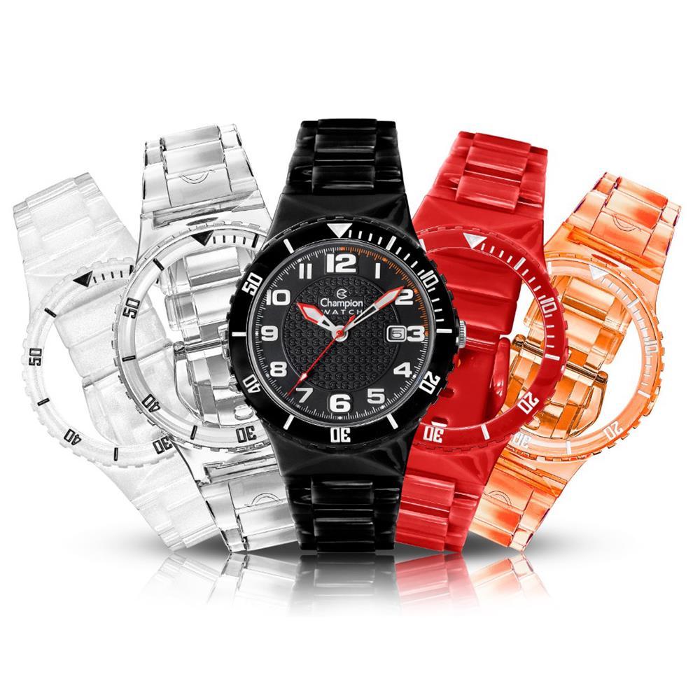 Relógio Champion Kit Troca Pulseiras Unissex Quartz CP38086X