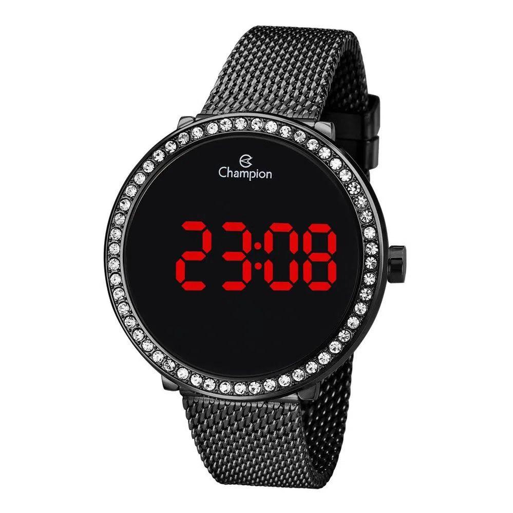 Relógio Feminino Champion Digital CH48037D - Preto