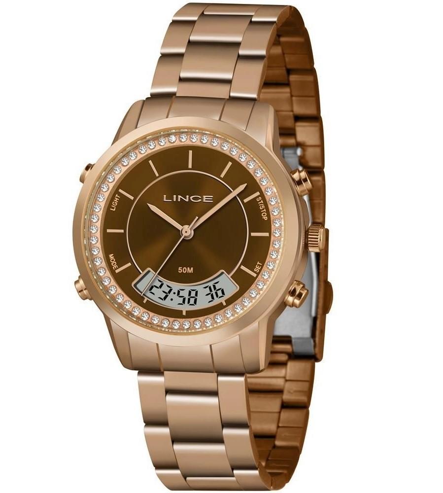 Relógio Lince Digital / Analógico Feminino LAR4640L N1RX