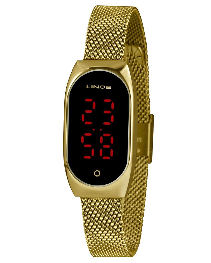 Relógio Lince Digital Feminino LDG4641L PXKX Dourado