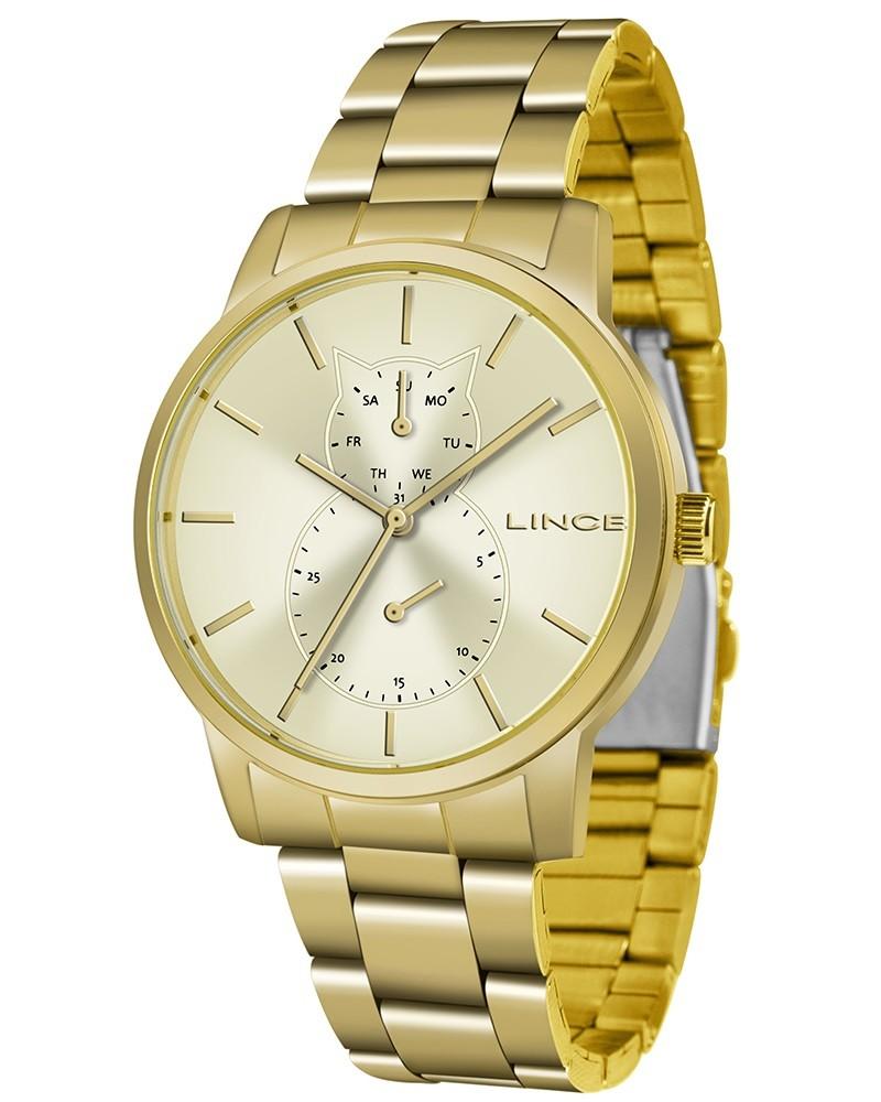 Relógio Lince Feminino LMGJ086L C1KX Dourado