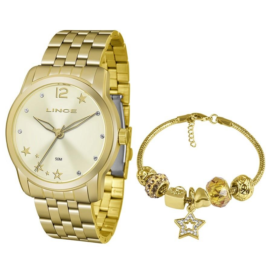 Relógio Lince Feminino LRG4552L KU91 Dourado