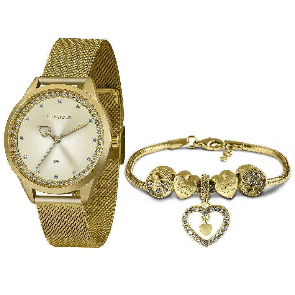 Relógio Lince Feminino LRG4666L KY10 Dourado