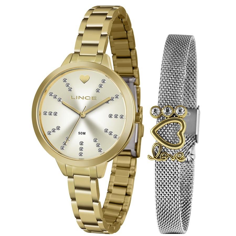 Relógio Lince Feminino LRG4667L KY12 Dourado