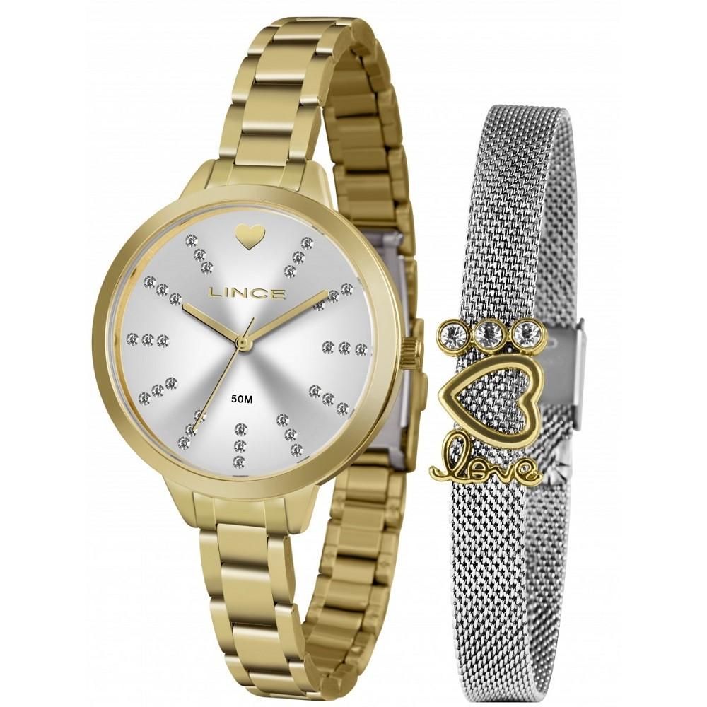 Relógio Lince Feminino LRG4667L KY14 Dourado