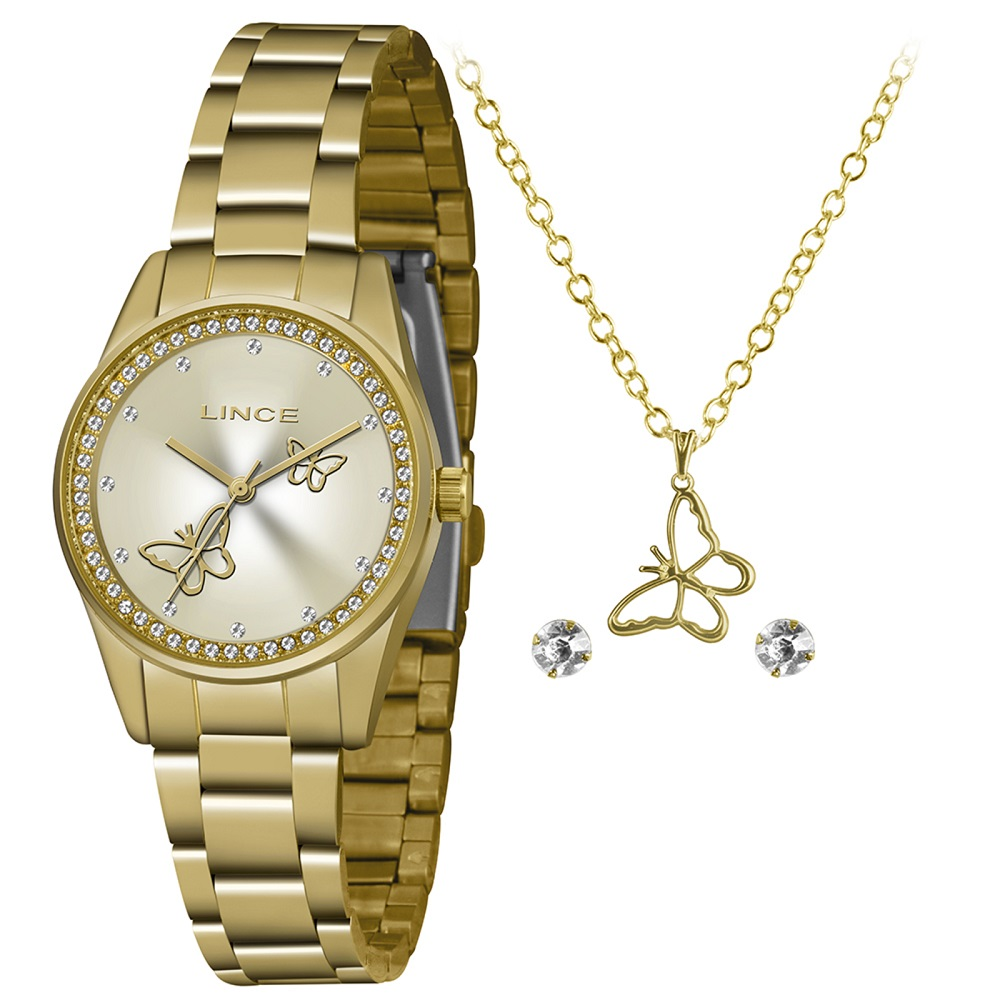 Relógio Lince Feminino LRGJ113L KY65 Dourado