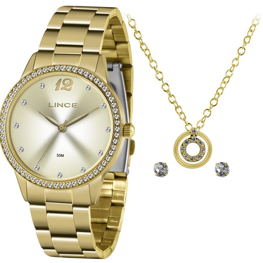Relógio Lince Feminino LRGJ119L KY79 Dourado
