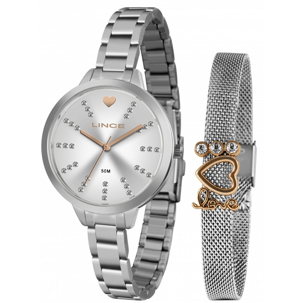 Relógio Lince Feminino LRM4667L KY16 S1SX Prata