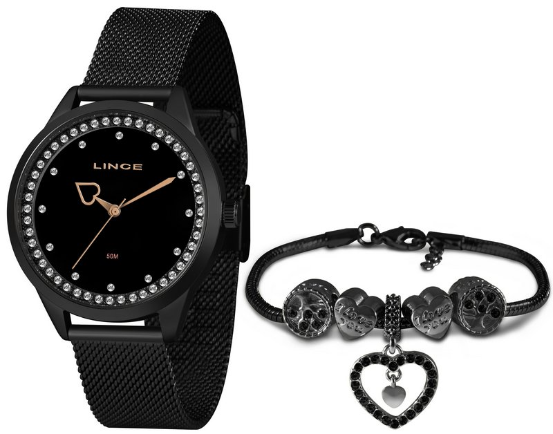 Relógio Lince Feminino LRN4666L KY17 Preto