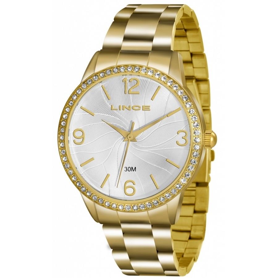 Relógio Lince Kit LRGJ049L KT11S Dourado