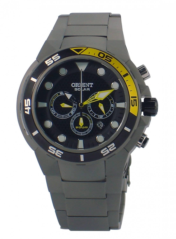 Relógio Orient Seatech Titanium Solar Masculino Quartz MBTTC014 P1GX
