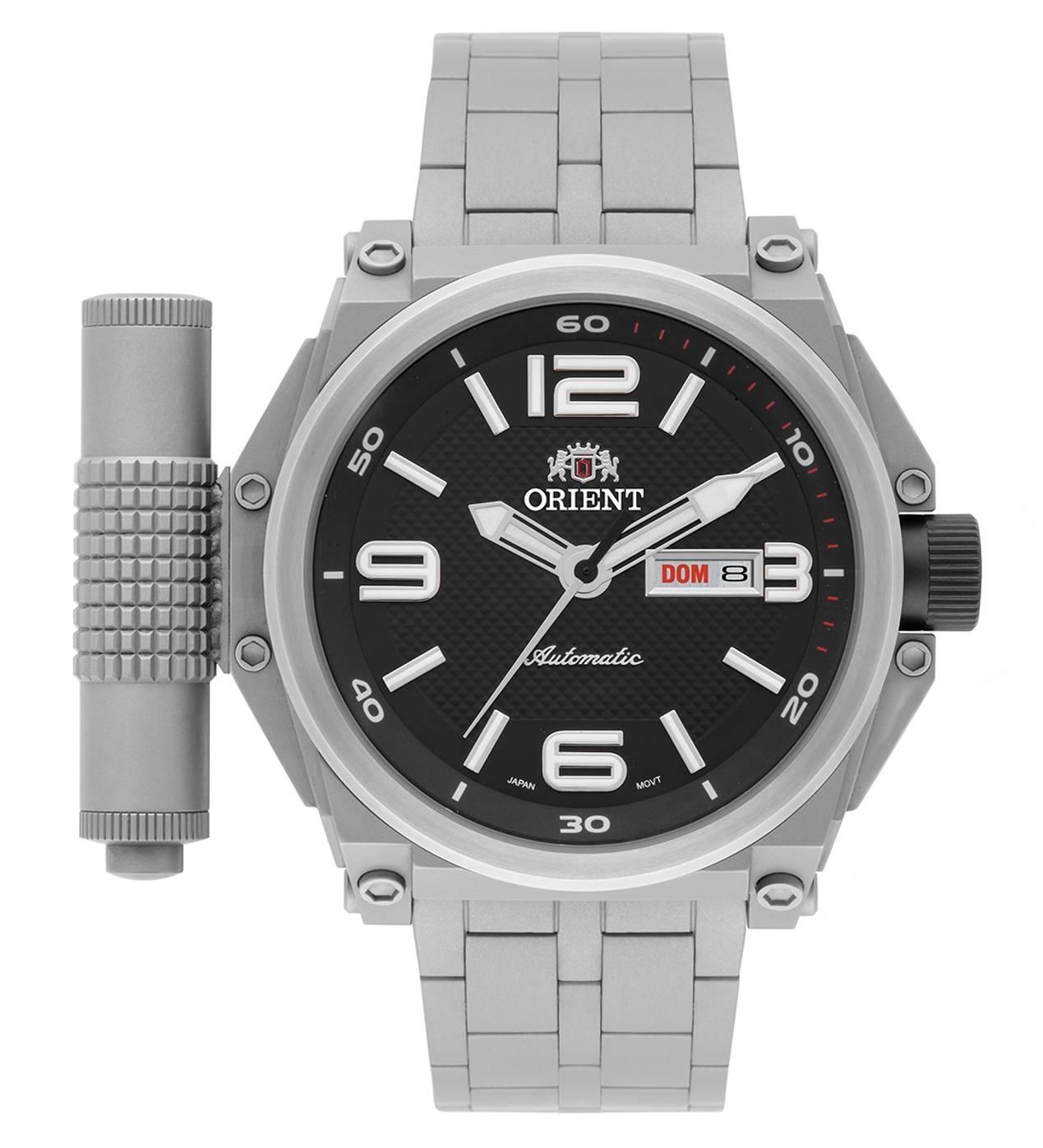 Relógio Orient Titanium Army Tech Masculino Automático 469TI004 P2GX