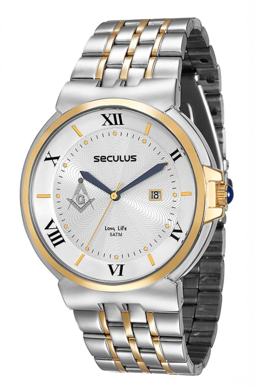 Relógio Seculus Maçonaria Masculino Quartz 23513GPSVBA2-M