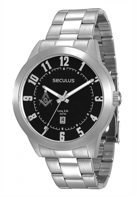 Relógio Seculus Maçonaria Masculino Quartz 28692G0SVNA1-M