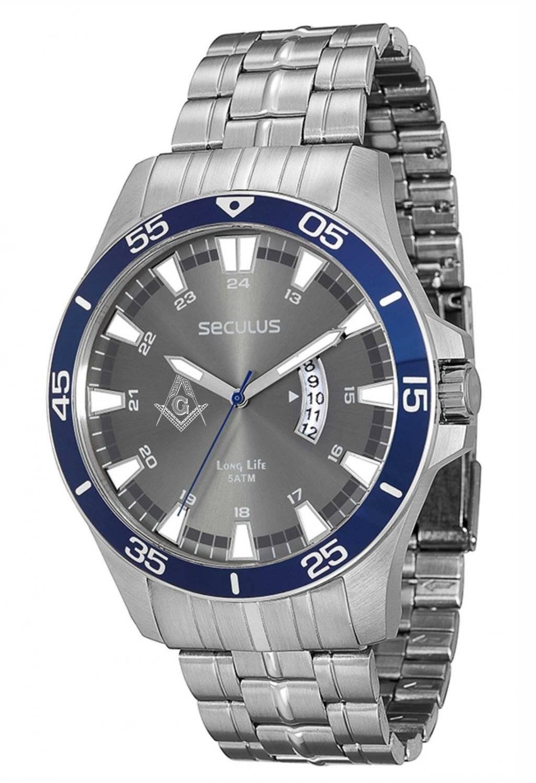 Relógio Seculus Maçonaria Masculino Quartz 28728G0SGNA2-M