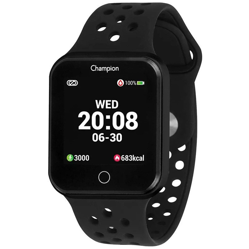 Relógio Smartwatch Champion Bluetooth 4.0 Preto CH50006P