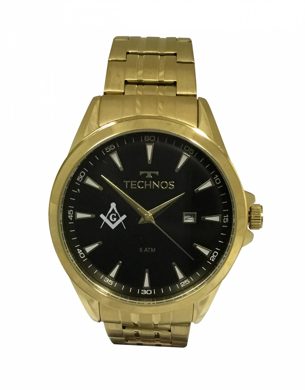 Relógio Technos Classic Executive Maçonaria Masculino Quartz 2115LAR/4P-MAC