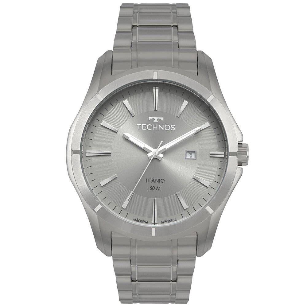 Relógio Technos Classic Executive Titânio Masculino 2115MTW/4C