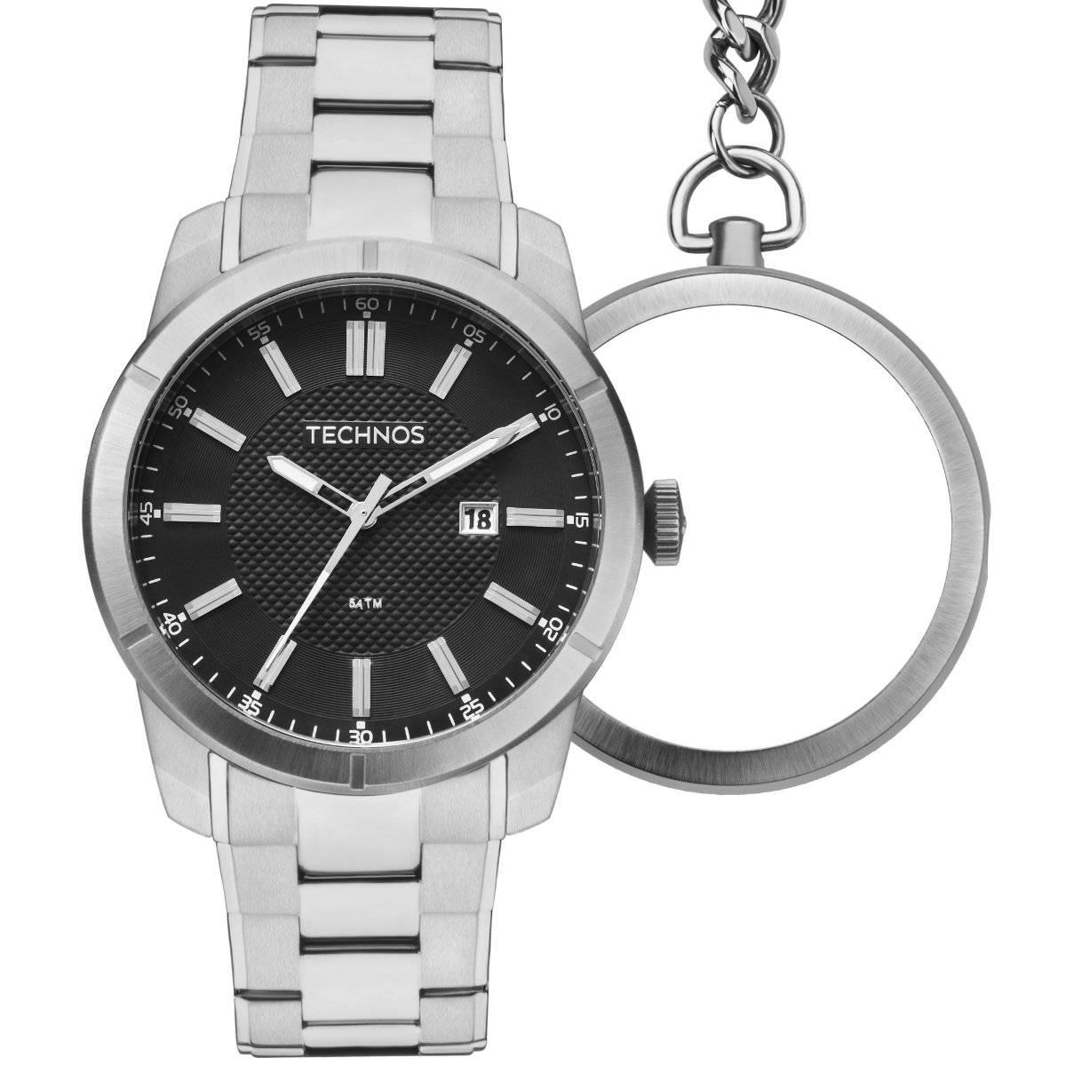 Relógio Technos Classic Grandtech Pulso e Bolso Masculino Quartz GM10YD/1P