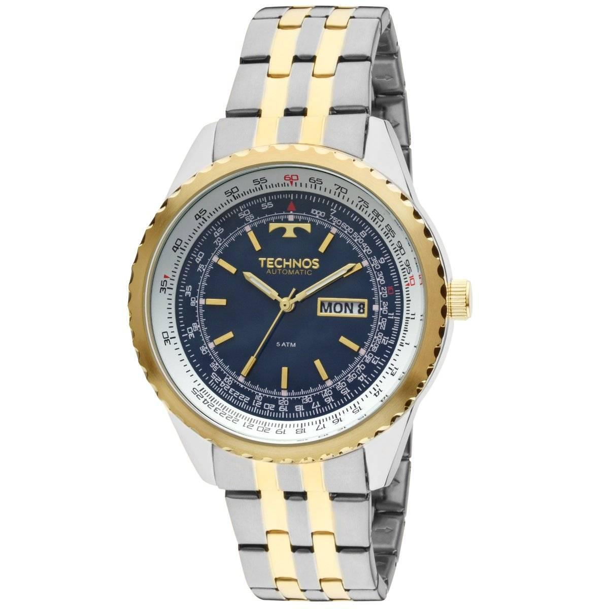 Relógio Technos Classic Masculino Automático 8205NO/5A