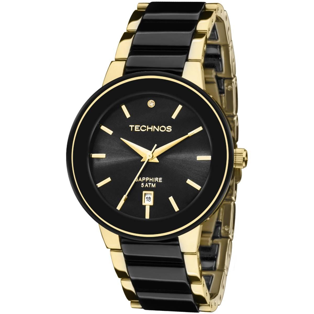 Relógio Technos Elegance Ceramic Feminino Sapphire Quartz 2115KRS/4P