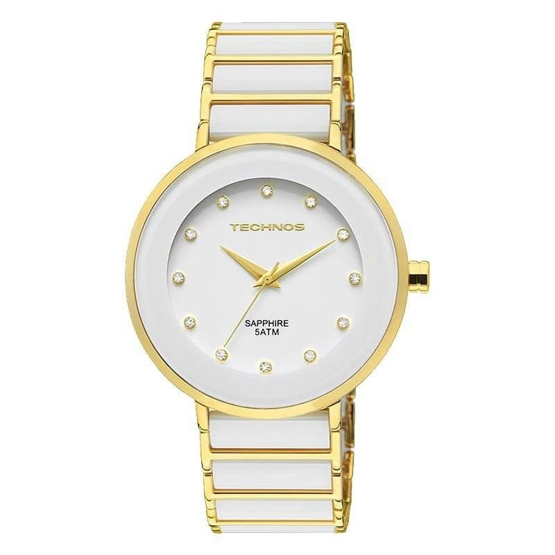Relógio Technos Elegance Ceramic Sapphire Feminino Quartz 2035LMM/4B