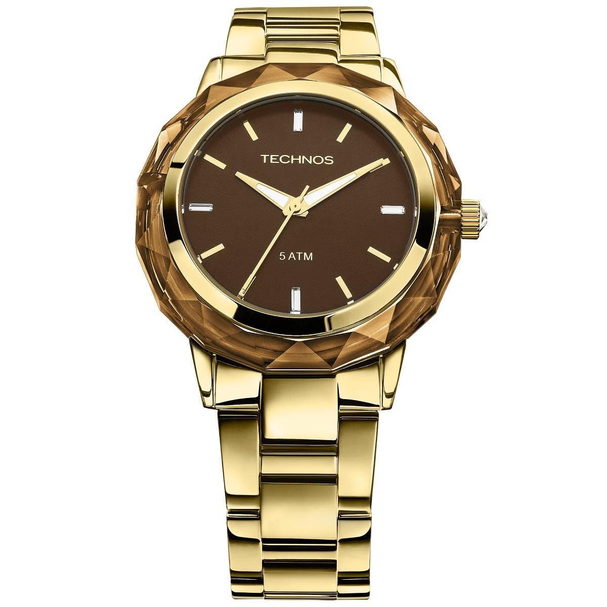 Relógio Technos Elegance Crystal Feminino Quartz 2035MCM/4M
