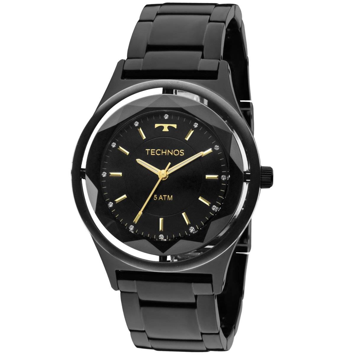 Relógio Technos Elegance Crystal Feminino Quartz 2035MIB/4P
