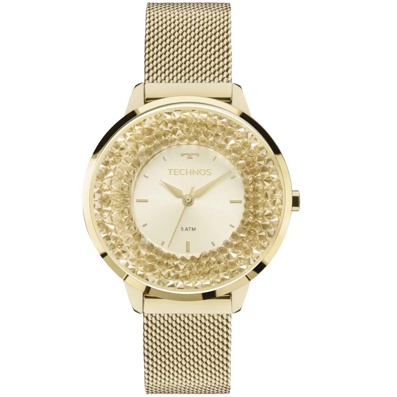 Relógio Technos Elegance Crystal Feminino Quartz 2035MLG/4X