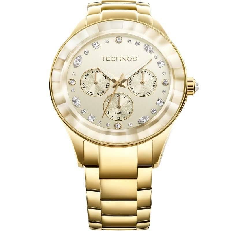 Relógio Technos Elegance Crystal Feminino Quartz 6P29AHD/4X