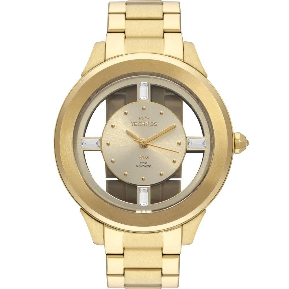 Relógio Technos Elegance Crystal Feminino Quartz F03101AA/4D