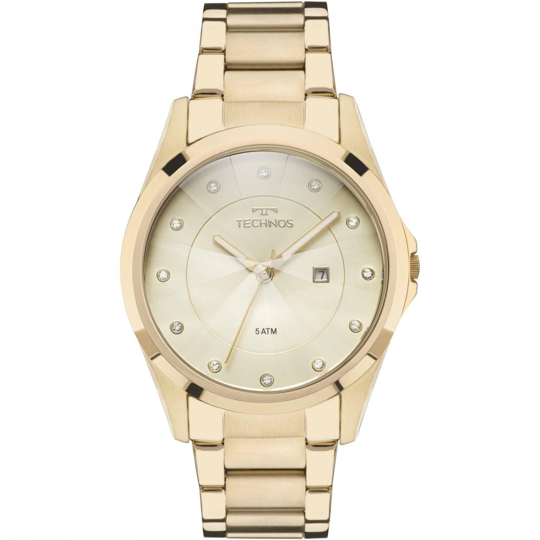 Relógio Technos Elegance Crystal Feminino Quartz GN10AS/4X
