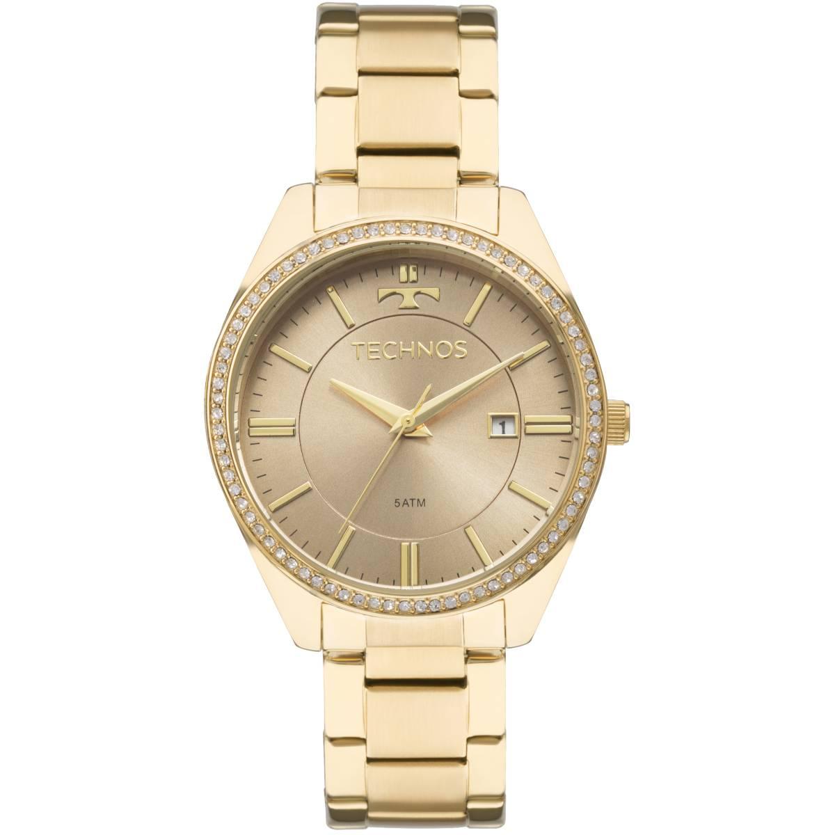 Relógio Technos Elegance Ladies Feminino Quartz 2115MNB/4M