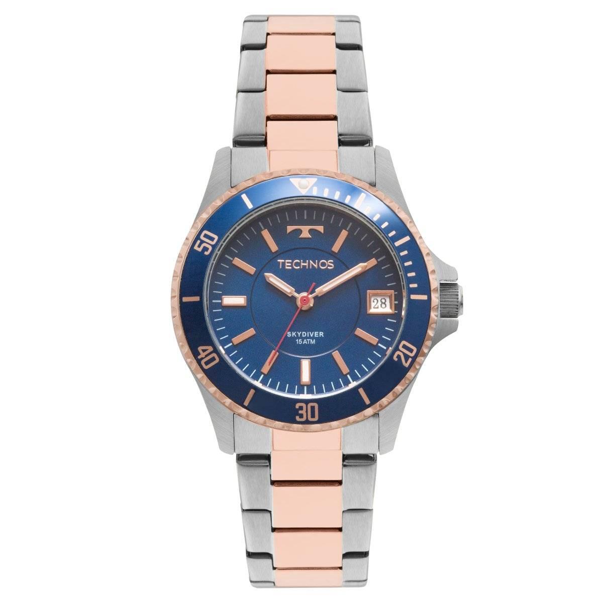 Relógio Technos Elegance Skydiver Feminino Quartz 2115MMM/5A