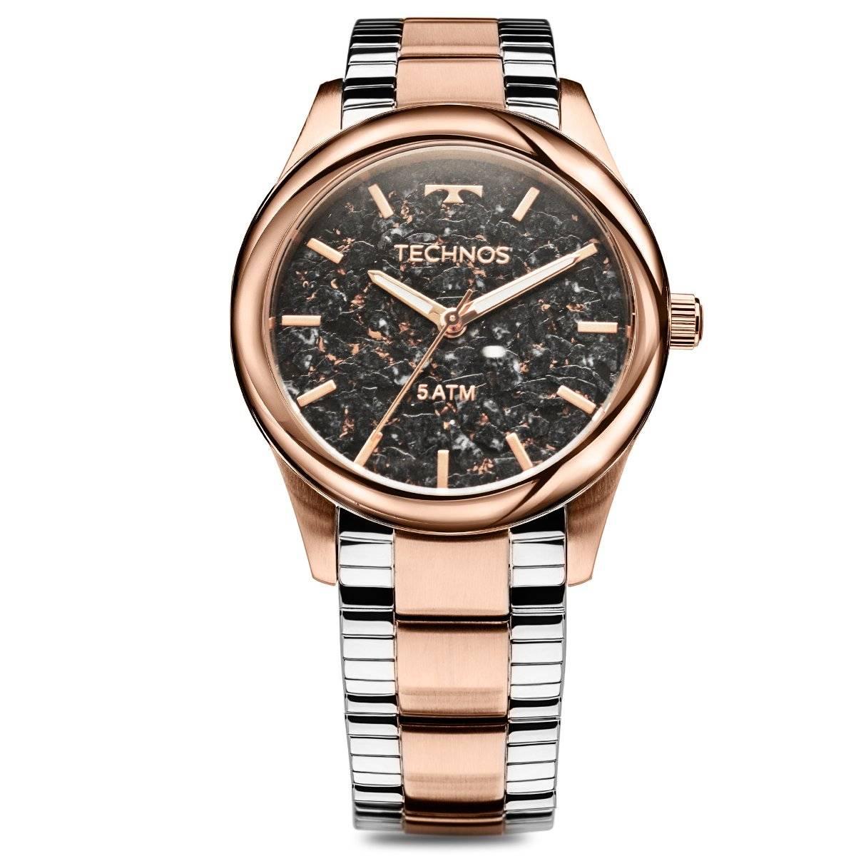 Relógio Technos Elegance Stone Collection Feminino Quartz 2033CP/5P